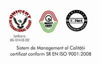 Sistem de Management al Calitatii certificat conform SR EN ISO 9001:2001
